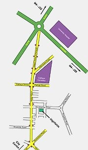 Location Map of Highfields Church