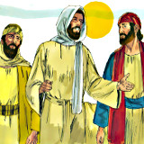 Two disciples on road to Emmaus [religious-artist.blogspot.com]